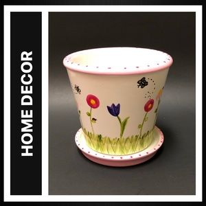 Handpainted Ceramic Flower Pot
